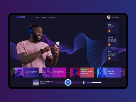 Music Entertainment Web App, Radio App