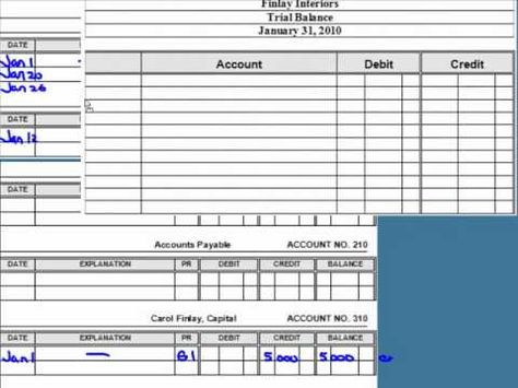 Posting to the General Ledger - YouTube School Pinterest - free general ledger template