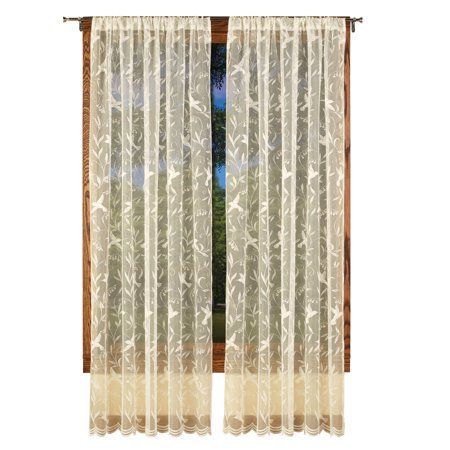 Home In 2019 Lace Window Lace Curtain Panels Panel Curtains