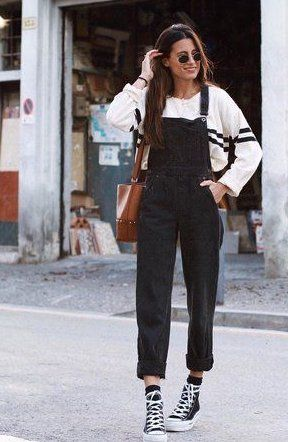 Black overalls outfit Street Style Outfits Black overalls outfit Street Style Outfits Black overalls outfit The post Black overalls outfit Street Style Outfits appeared first on New Ideas. Street Style Outfits, Mode Outfits, Fall Outfits, Casual Outfits, Summer Outfits, Fashion Outfits, Grunge Street Style, Converse Fashion, Dress Outfits