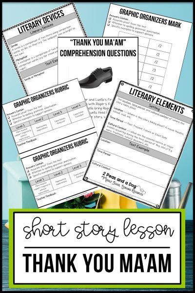 Thank You Ma Am Short Story Lesson Education Teaching