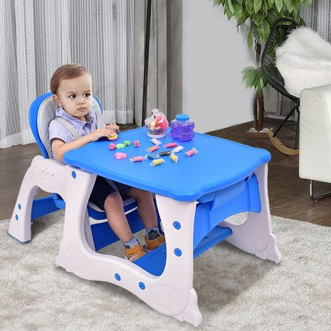 Infant 3in1 Convertible Play Table Seat High Chair Booster Toddler Feeding Tray