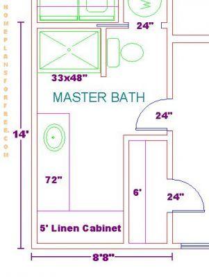 Creative Designs 4 8 X 14 Bathroom Layout Free Plan Design Ideas
