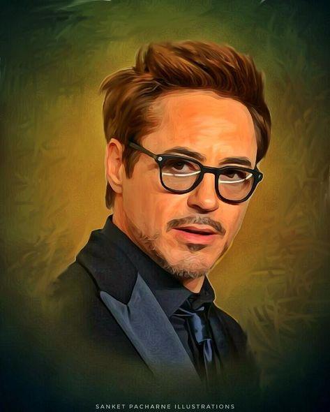 Robert Downey Jr Tony Stark Digital Painting