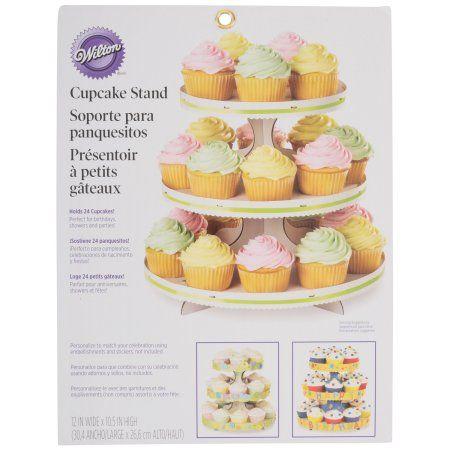 Wilton 3 Tier Cupcake Stand White Walmart Com Dessert Stand Wilton Cupcake Stand Cupcake Tiers Stand