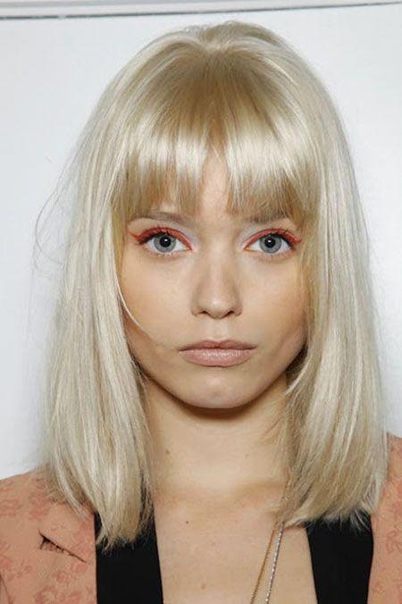 Platinum Blonde Hair With Fringe Blonde Hair With Bangs Platinum Blonde Hair Yellow Blonde Hair