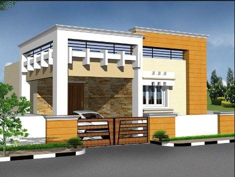 Tamilnadu House Elevation Designs Desain Rumah Desa Desain Depan Rumah Desain Rumah Eksterior Small house plan tamilnadu