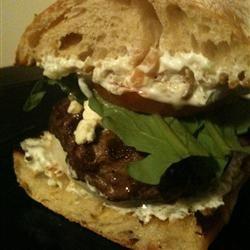 Mediterranean Lamb Burgers - good! Used 1:1 lamb & beef