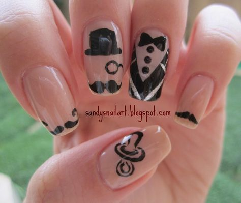 Mustache nail design nail designs pinterest mustache nails nail designs pinterest mustache nails prinsesfo Image collections