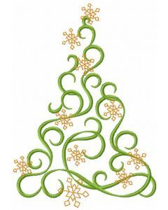Modern Christmas Tree 9 Embroidery Design Free Machine Embroidery Designs Machine Embroidery Christmas Free Machine Embroidery
