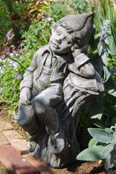 Gartendeko Steinfigur Skulptur Elfe Peaches Pheeberts Fiona Scott Steinguss Ebay Garten Deko Gartenfiguren Englische Kunstler