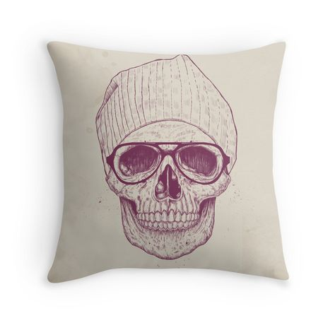 Cool skull Throw Pillows