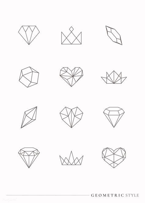 Linear geometric design element collection vectors   free image by rawpixel.com / Aew