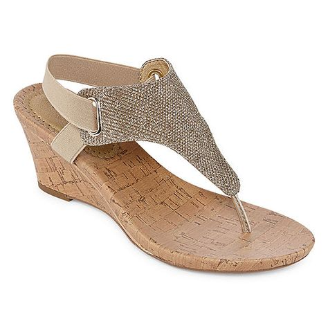 2deef78f6e2ab St. John s Bay Ante Womens Wedge Sandals
