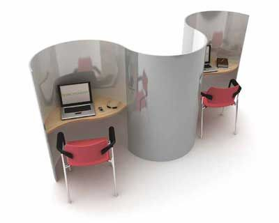 muse curved study carrels up to 3 users in a public space pinterest office screens uk online and wooden screen - Study Carrel