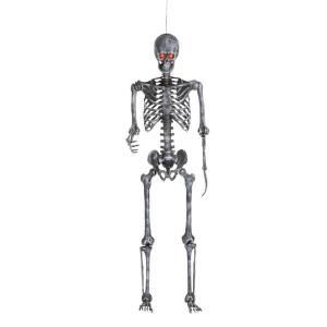 Home Accents Holiday 12 Ft Giant Sized Skeleton With Lifeeyes 5124738 The Home Depot In 2020 Home Depot Halloween Halloween Outdoor Decorations Ghost Lights
