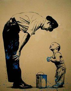 Nicht schimpfen, lieber lächeln #streetartgraffiticreativity