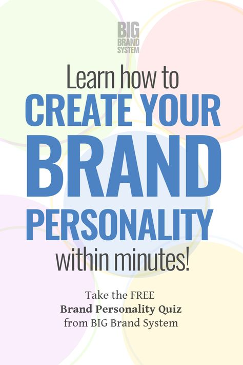 Learn How to Create Your Brand Personality in Minutes