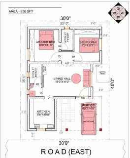 850 Sq Ft House Plans New 850 Sq Ft 2 Bhk Floor Plan Image Upkar Royal Garden Villas In 2020 House Plans Craftsman Style House Plans How To Plan