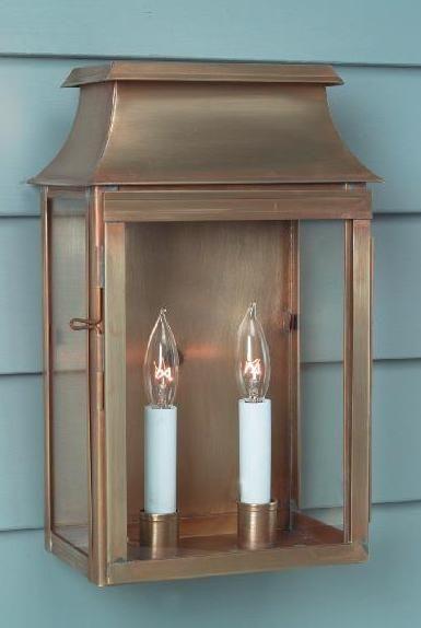 Hammerworks New England Wall Lantern Brookfield W112 Shown In Solid Antique Brass Wall Lantern Copper Outdoor Lighting Copper Lighting