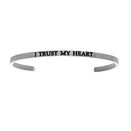 Intuition Stainless Steel i Trust My Heart Cuff Bangle