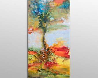Peinture à L Huile Originale Abstraite Peinture Grande
