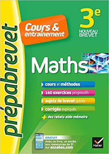 Maths 3e Prepabrevet Cours Entrainement Cours Methodes Et Exercices Progressifs Caroline Bureau Jean Pierre Bureau Liv Ebook Good Books I Am Awesome