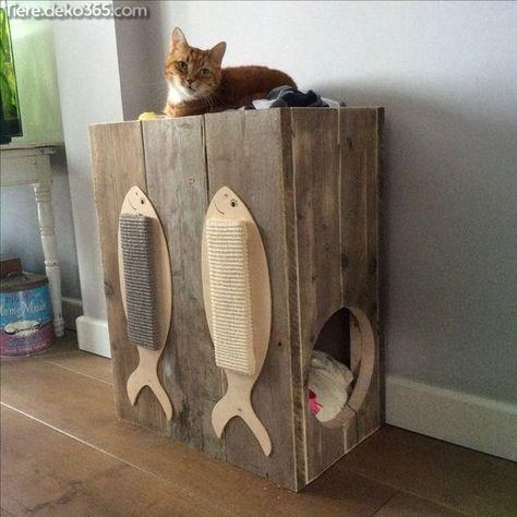 Die Besten Ideen Zu Gunsten Von Holzkatzenhauser Katzen Haus