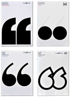 Studio Astrid Stavro Spain 2010 The design of these four catalogues is based on the use of quotation marks (representing author's rights).