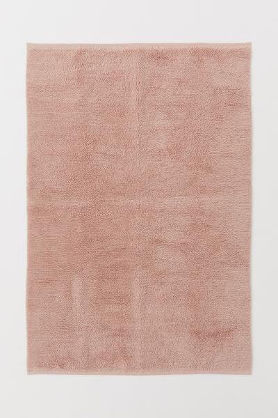 Zottelteppich Aus Wollmix Zottelteppich Teppich Altrosa Und Teppichlaufer