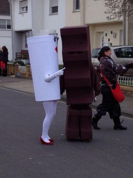 milch und schokolade kostüm