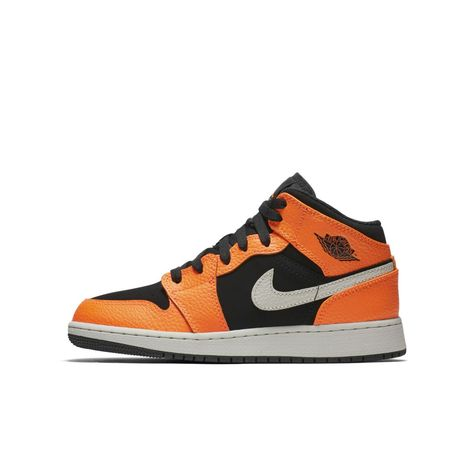 d1b6573c93d67 Air Jordan 1 Mid Big Kids  Shoe Size 6.5Y (Black)