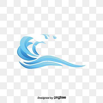 Blue River Spray Vector Waves Logo Guns Illustration