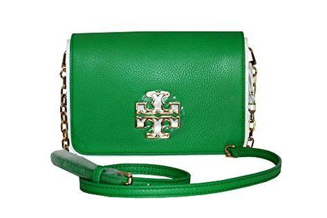 7925bf7a4fe Tory Burch Britten Combo Crossbody Leather Women s Handbag Court Green   handbag  shoulderbag  CourtGreen  ToryBurch  ToryBurch Visit Sakosj.com for  the ...