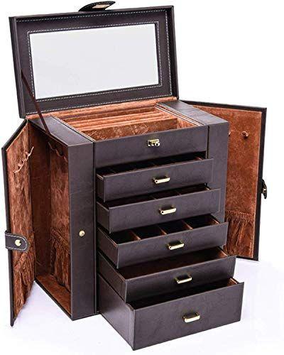 Amazing Offer On Hezala Large Jewelry Organizer 6 Layer Leather
