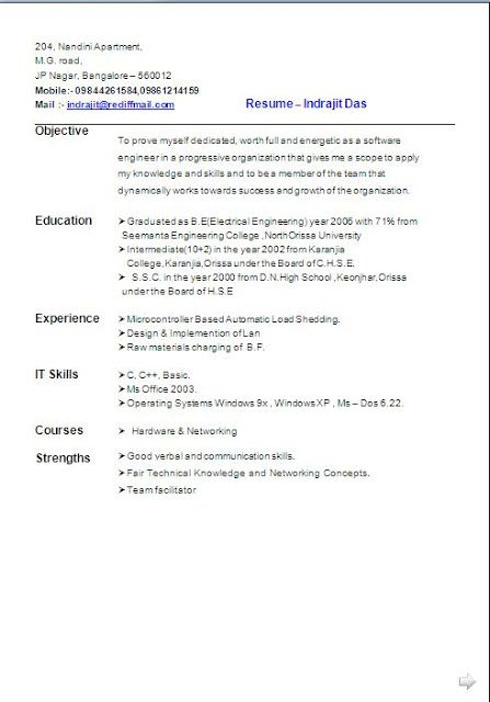 best resume objective free download Sample Template Excellent