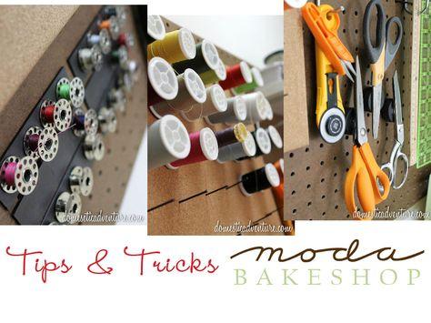 Moda Bake Shop: Tips & Tricks: Bobbin Storage