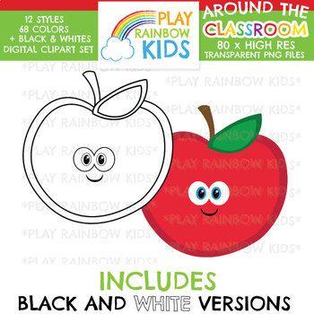 Classroom Clipart For Teachers Playrainbowkids Education Classroom Lessonplan School Cute Apple Blackandwhite Classroom Clipart Clip Art Classroom