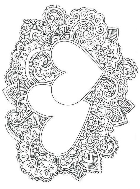 Kids-n-fun.com   Coloring page Valentine difficult Valentine difficult