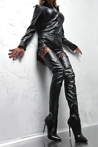 Stiefel Crotch Overknee Boots Leder High Lang 1969 Italy Py3 XTPkZiuO