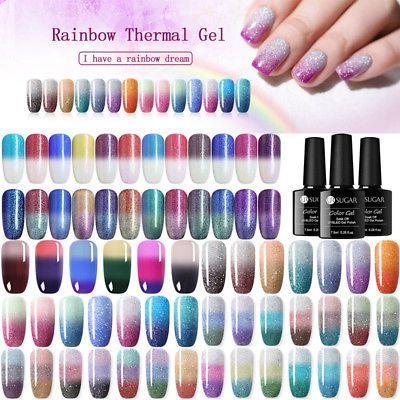 Ur Sugar 7 5ml Thermal Uv Gel Nail Soak Off Color Changing Gel Polish Ebay Color Changing Gel Polish Uv Gel Nails Gel Nails