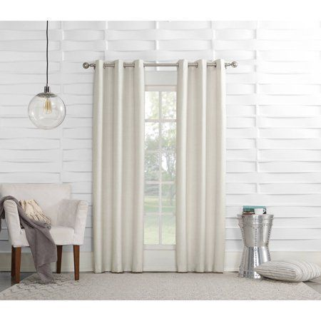 Sun Zero Caleb Linen Texture Thermal Insulated Energy Efficient Grommet Curtain Panel Image 1 Of 2 Roomdarkeningcurtains Grommet Curtains Panel Curtains Curtains