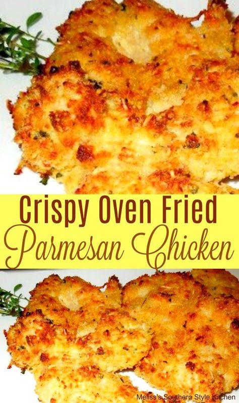 Crispy Oven Fried Parmesan Chicken Crispy Oven Fried Parmesan Chicken,Chicken Recipes Crispy Oven Fried Parmesan Chicken Related posts:Over 30 of the Best Campfire Recipes for Camping and GrillingDollar Tree Farmhouse Tiered Tray used to. Chicken Thights Recipes, Baked Chicken Recipes, Recipe Chicken, Chicken Meals, Chicken Salad, Italian Chicken Recipes, Recipe For Chicken Parmesan, Breading For Chicken, Thin Chicken Cutlet Recipes