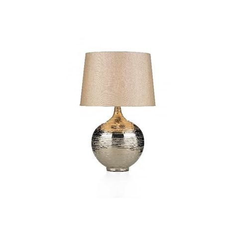 Dar Gus4332 Gustav 1 Light Modern Table Lamp Silver Finish C W Beige Shade Large Silver Table Lamps Beige Lamps Silver Lamp