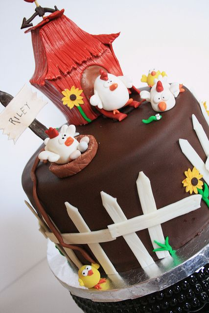 Chicken cake, awwww but I could NEVER reproduce it :)