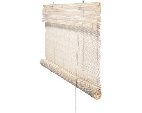 rolgordijn bamboe wit 60x180 cm