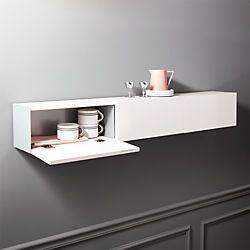Hide N Seek Large White Storage Shelf White Wall Shelves Shelves Wall Mounted Shelves