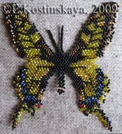 Butterfly Papilio Machaon Pattern by Katherina Kostinsky at Bead-Patterns.com