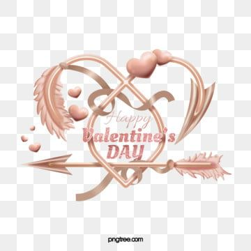 Valentine Rose Gold Love Arrow Rose Gold Heart Love Arrow Png Transparent Clipart Image And Psd File For Free Download Valentines Roses Pink Roses Background Heart Shaped Valentines
