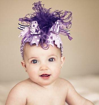 "3"" White\Lilac Mist\Lilac White Dot Korker Hair Bow Handmade"